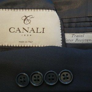 Canali 1934 Travel Water Resistant Navy Blue coat